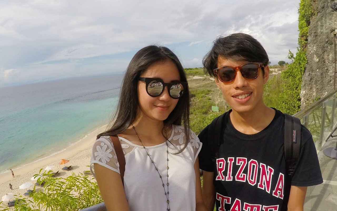 With travelmate at Pura Luhur Uluwatu